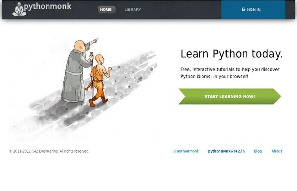 PythonMonk - Interactive Python tutorials