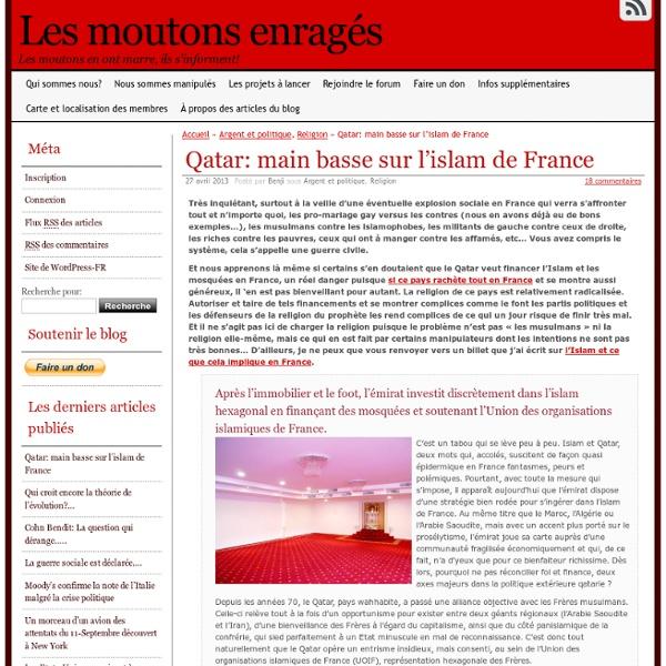 Qatar: main basse sur l'islam de France
