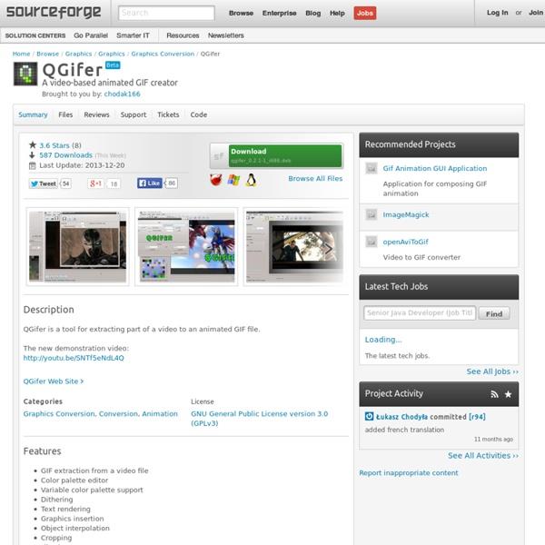 QGifer : convertir un extrait vidéo en GIF