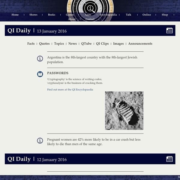 QI : Quite Interesting