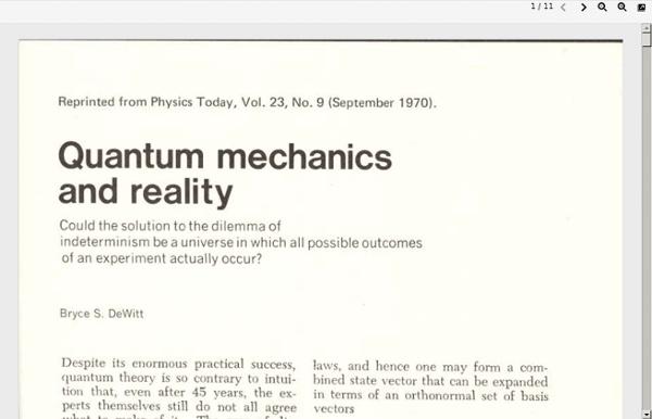 Quantum Mechanics and Reality