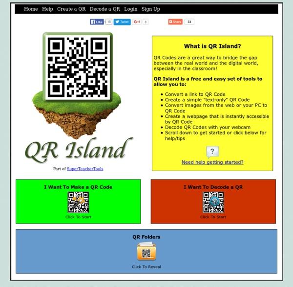 QR Island - créer des QR codes