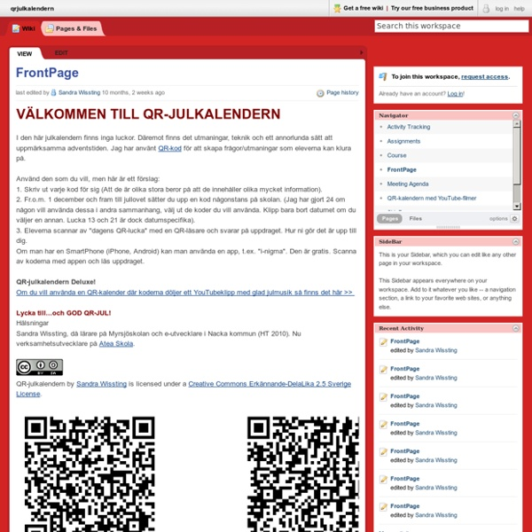 Qrjulkalendern [licensed for non-commercial use only] / FrontPage