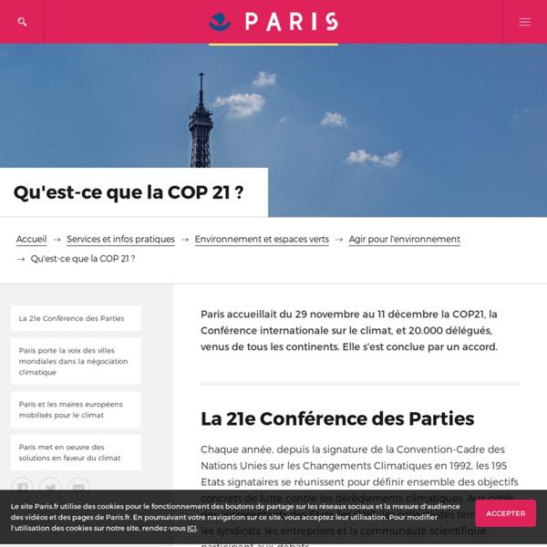 Qu'est-ce que la COP 21?