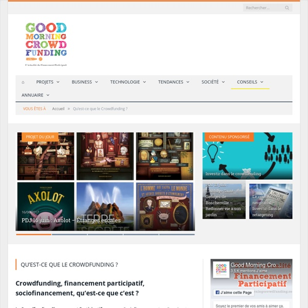 Qu'est-ce que le Crowdfunding ? - Good Morning Crowdfunding