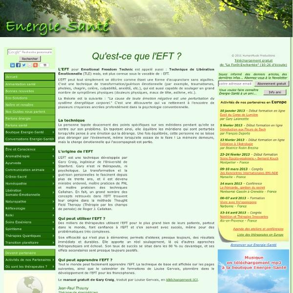 Qu'est-ce que l'EFT ?