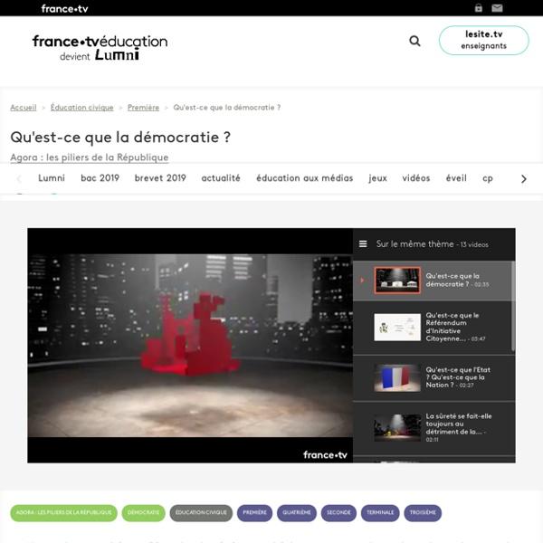Qu'est-ce que la démocratie ? - Vidéo - France tv Éducation