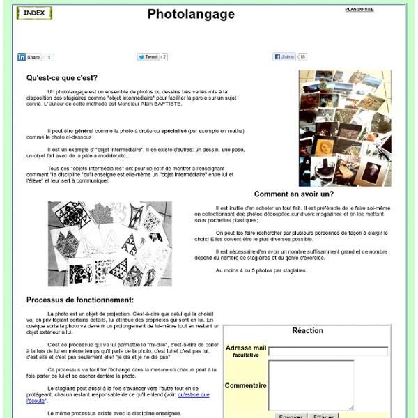 Qu'est ce qu'un photolangage?