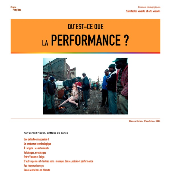 Qu'est-ce que la performance ?