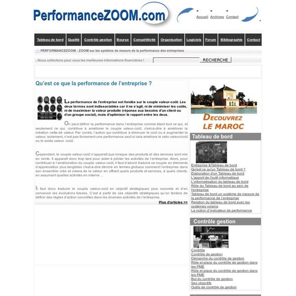 Qu'est ce que la performance de l'entreprise ?