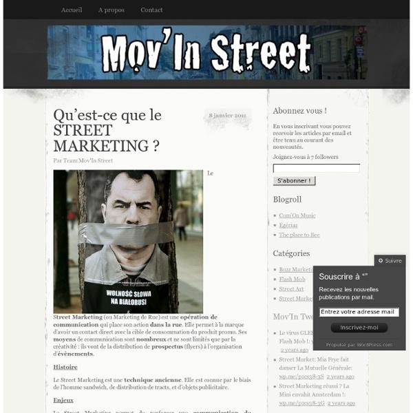 Qu'est-ce que le STREET MARKETING ?