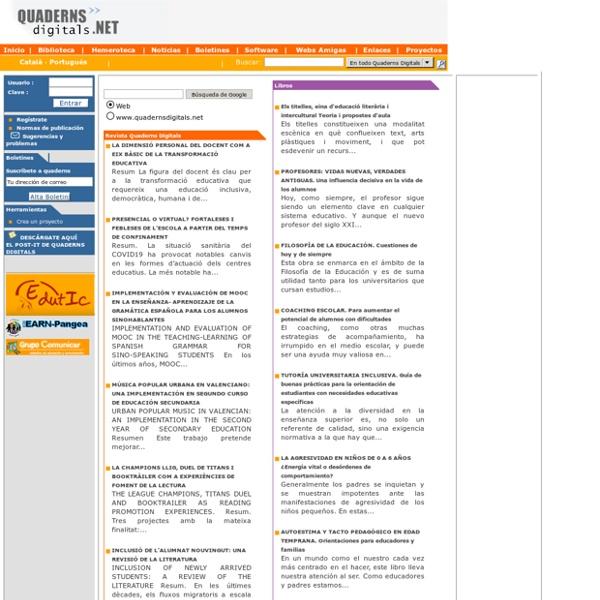 QuadernsDigitals.NET (hemeroteca i biblioteca virtual)