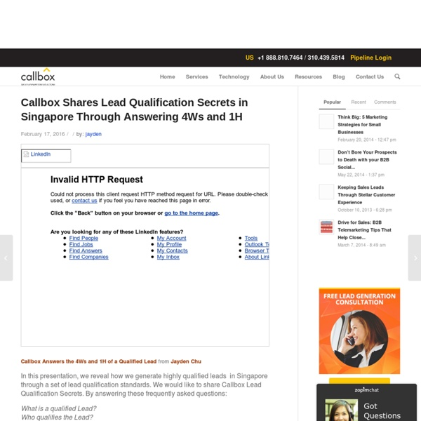 Callbox Shares Lead Qualification Secrets in Singapore