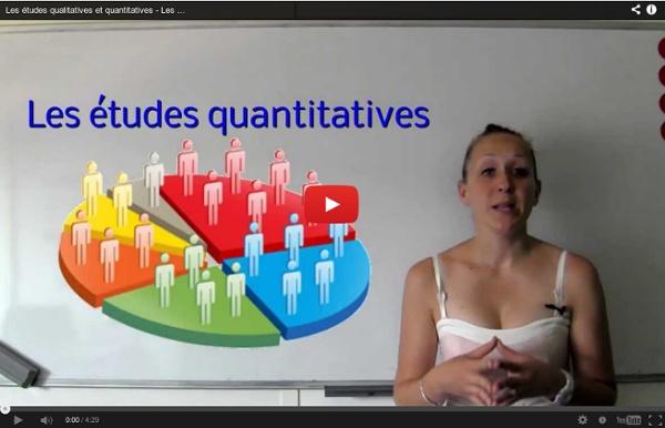 Vidéo : Les études qualitatives et quantitatives