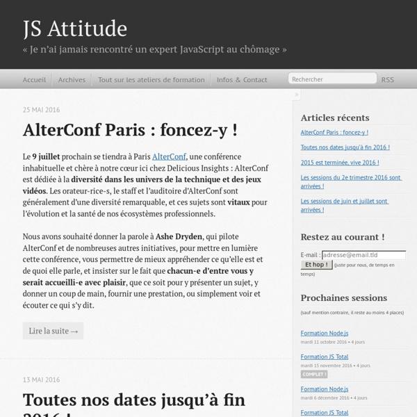 JS Attitude: formations JavaScript qualitatives et sympathiques