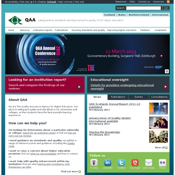 The Quality Assurance Agency for Higher Education (QAA)