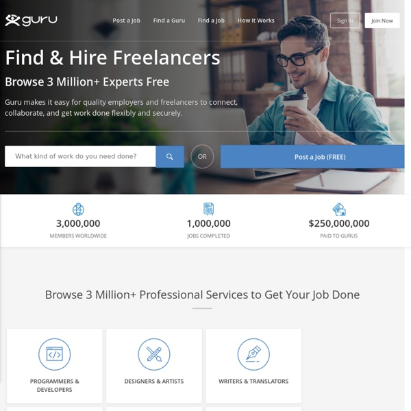 Guru - Hire Quality Freelancers And Find Freelance Jobs