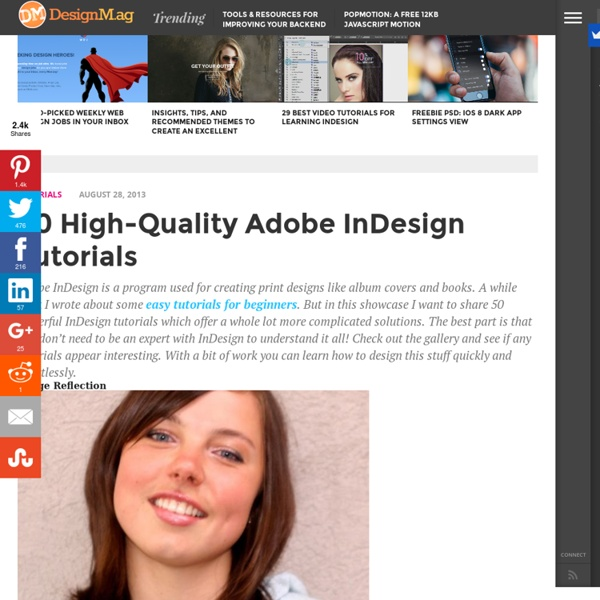 40 High-Quality InDesign Tutorials