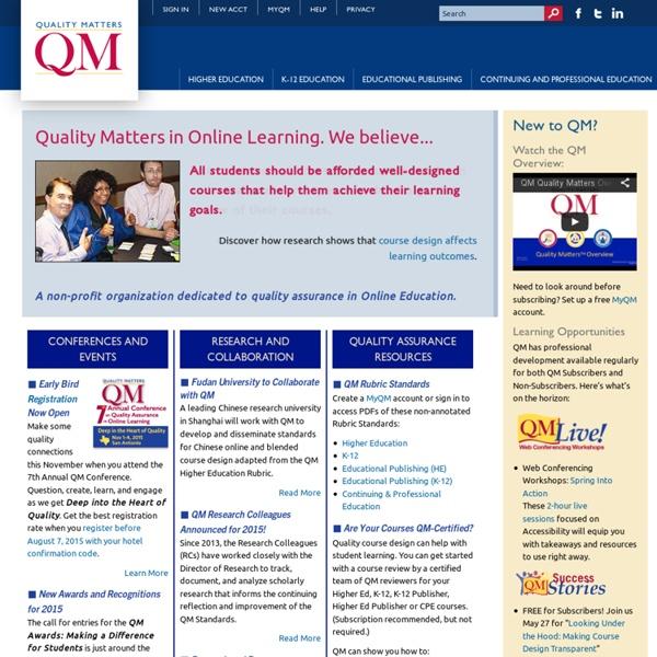 Quality Matters Program