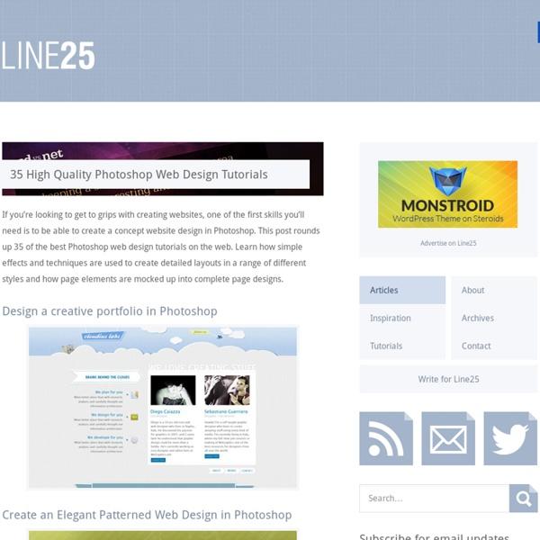 35 High Quality Photoshop Web Design Tutorials