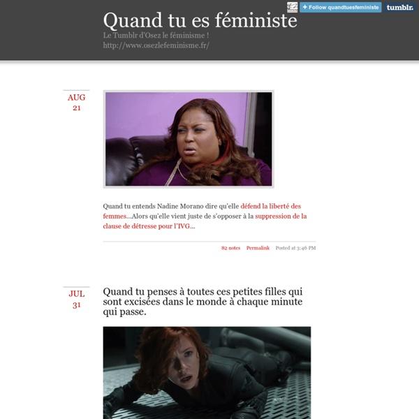 Quand tu es féministe