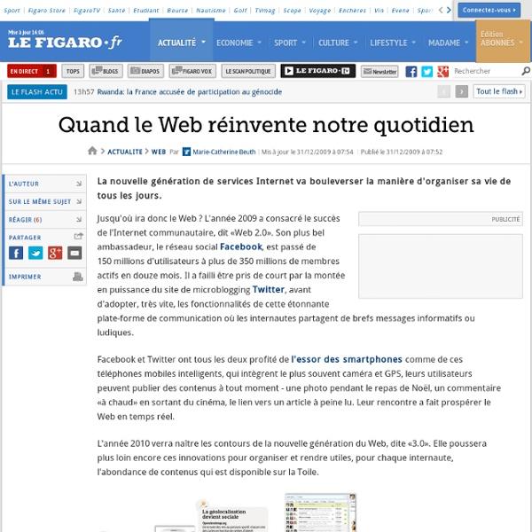 Web : Quand le Web réinvente notre quotidien
