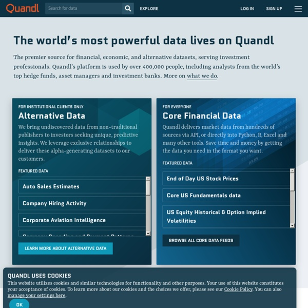 Quandl Financial and Economic Data