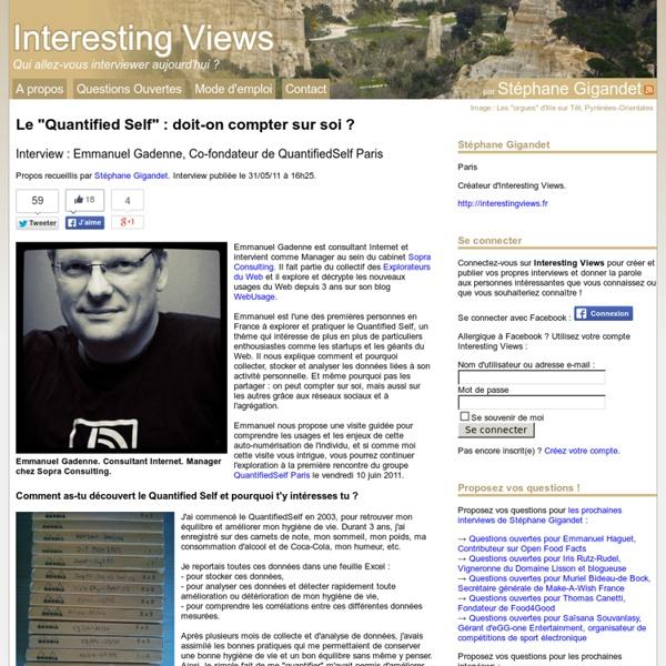 """Le """"Quantified Self"""" : doit-on compter sur soi ?"""