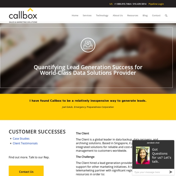 Quantifying Lead Generation Success for World-Class Data Solutions Provider - B2B Lead Generation Company Malaysia