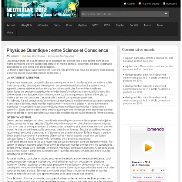 Physique Quantique : entre Science et Conscience