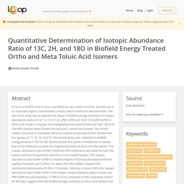 Isotope Abundance in M-Toluic Acid