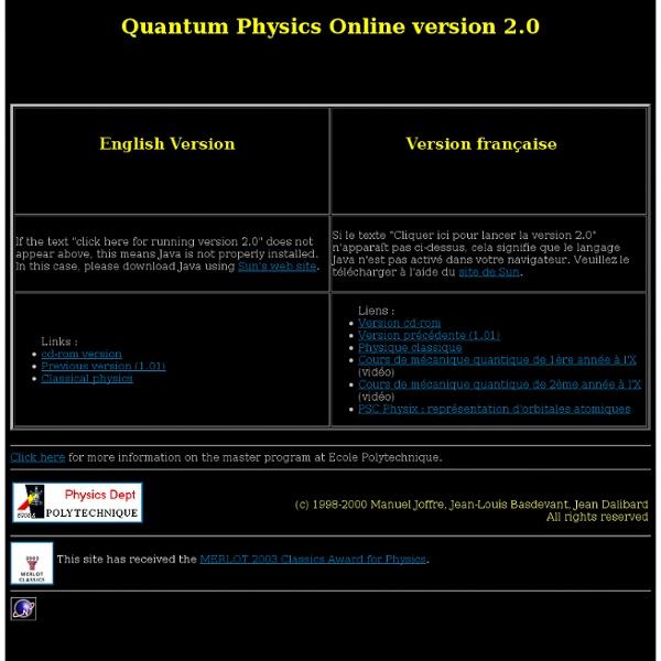 Quantum Physics Online