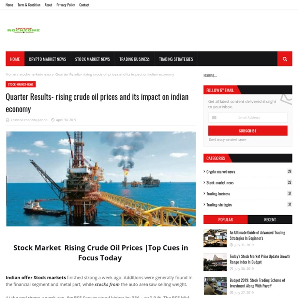 Quarter Results- rising crude oil prices and its impact on indian economy