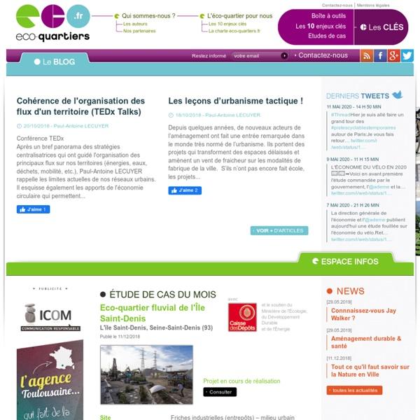 Eco-quartiers.fr : le 1er espace de débat en ligne sur les éco-quartiers et la ville durable