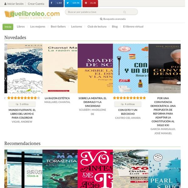 Quelibroleo - Descubre tu próxima lectura - Libros recomendados - Red social de literatura, comentarios de libros, libros y literatura