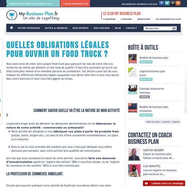 Quelles obligations légales pour ouvrir un food truck ?