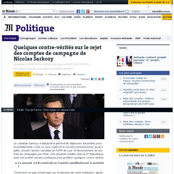 Quelques contre-vérités sur le rejet des comptes de campagne de Nicolas Sarkozy