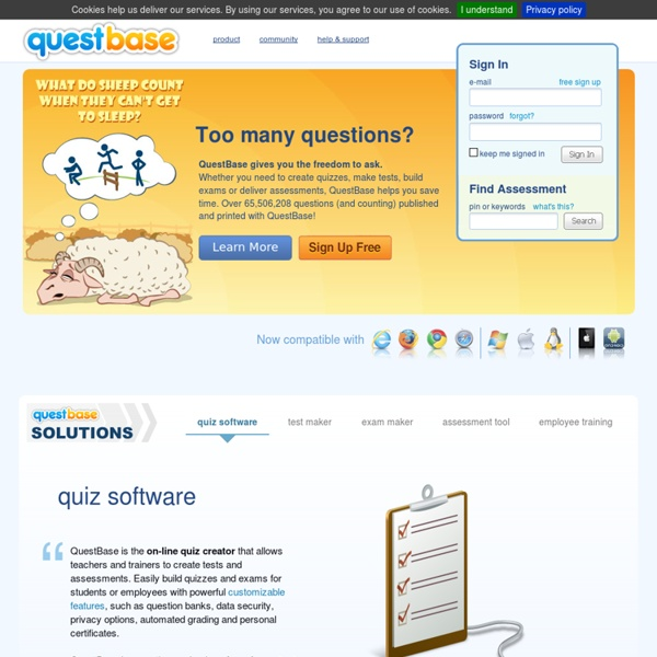 Create Online Quizzes, Make Assessments, Build Exams