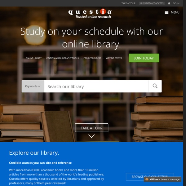 questia the online library of books and journals