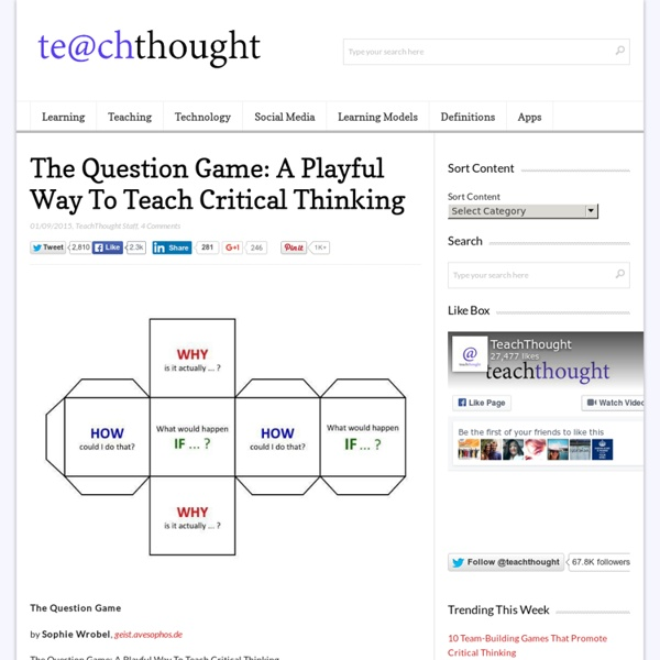 The Question Game: A Playful Way To Teach Critical Thinking