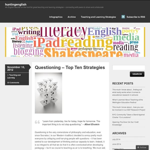 Questioning – Top Ten Strategies