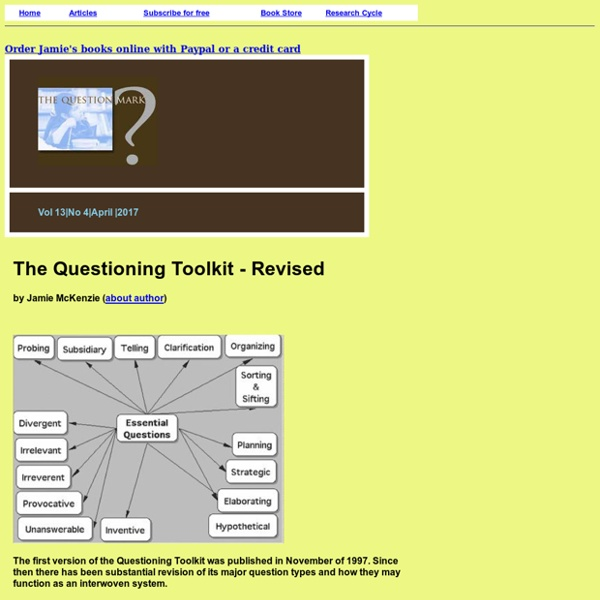 The Questioning Toolkit - Revised
