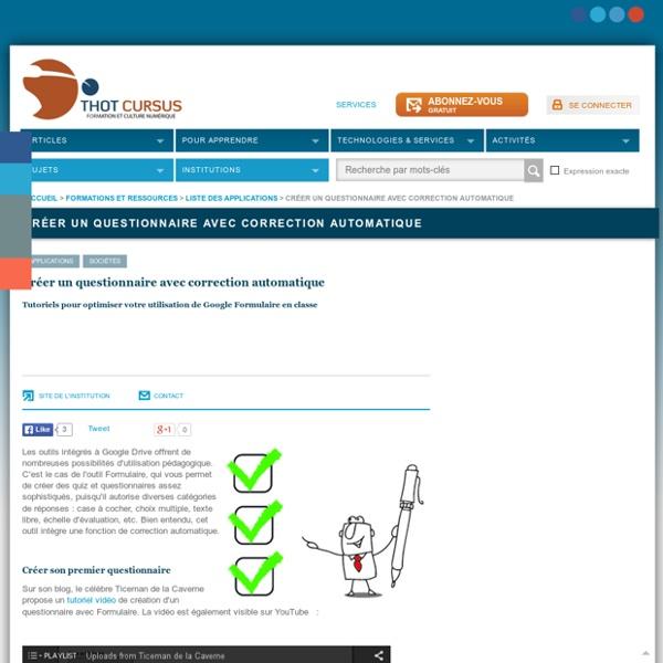 Créer un questionnaire avec correction automatique