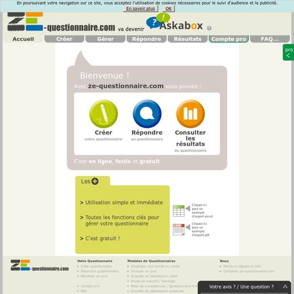 Cr er votre questionnaire en ligne facile et gratuit for Planificateur facile en ligne gratuit