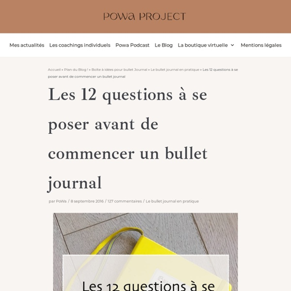 12 questions à se poser avant de commencer un bullet journal