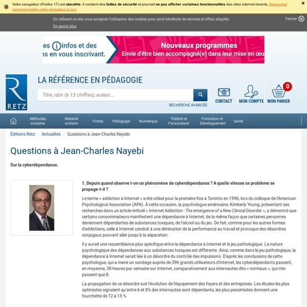 Questions à Jean-Charles Nayebi
