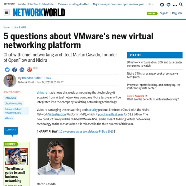5 questions about VMware's new virtual networking platform