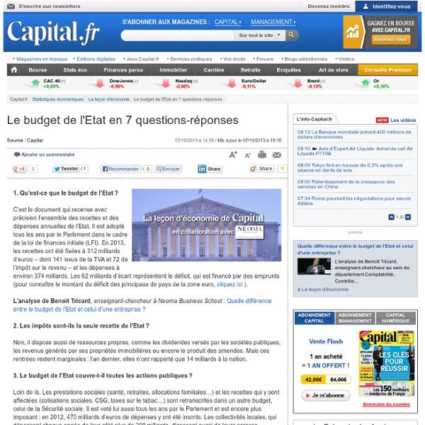 Le budget de l'Etat en 7 questions-réponses