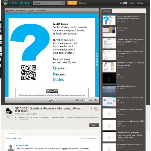 QR CODE : Questions Réponses - lire, créer, utiliser : tout savoir