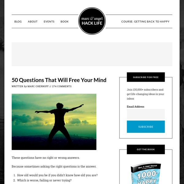 50 Questions That Will Free Your Mind - StumbleUpon